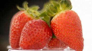 Strawberries fruit, loop — Stock Video