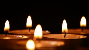 Candles light, candlelights — Stock Video