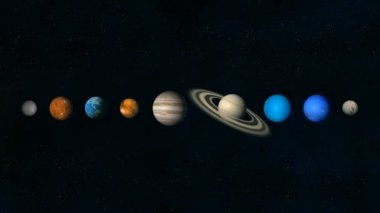 Space background, planets — Stock Video