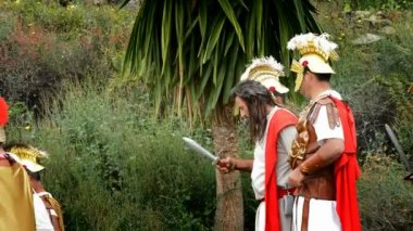 Theatrical representation of the biblical scene — Stok video