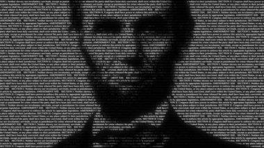 Lincoln 13th amendment text. — Stock Video
