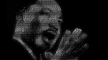 Martin Luther King, numbers animation — Stock Video