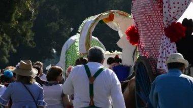 Pilgrimage or romeria in andalusia — Stock Video