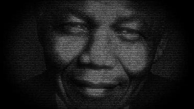 Nelson Mandela portrait — Stock Video