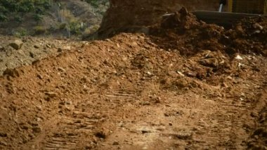 Bulldozer working with land — Vídeo de stock