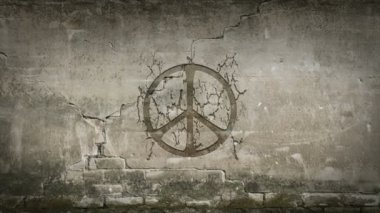 Peace symbol — Stock Video