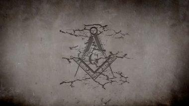 Freemason Symbol — Stock Video