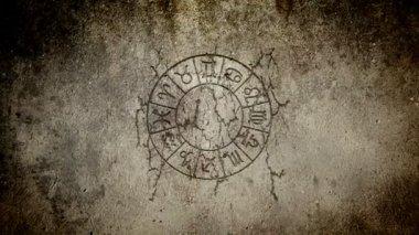 Zodiac wheel — Stock Video