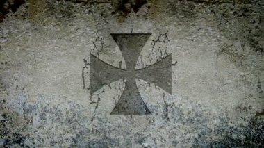 Croce maltese — Video Stock