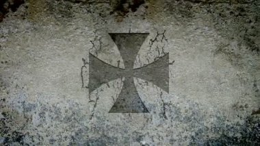 Cruz de malta — Vídeo de stock