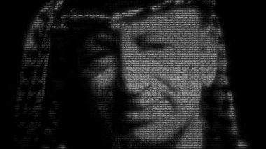 Yasser Arafat face animation — Stock Video