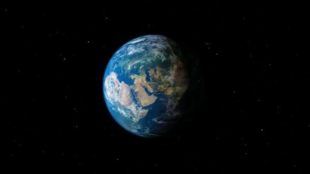 Rotation de la terre de planète — Vidéo