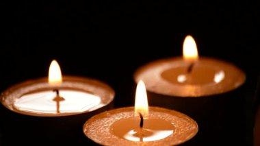 燃烧的蜡烛 — 图库视频影像