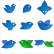 Blue birds - Stock Vector
