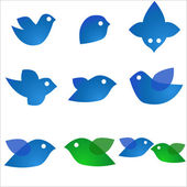 Blue birds — Vector de stock