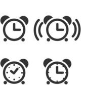 Time/Clock Icons — Stock Vector