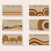 Brown business cards — Stock Vector