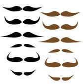 Moustache styles, vector — Stock Vector