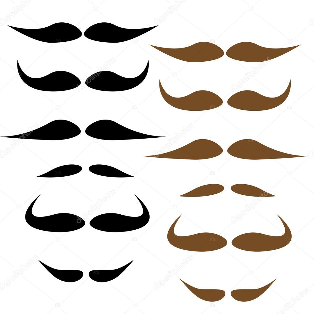Stock Vector — Moustache styles, vector — Stock Vector #18540105