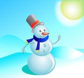 Cheerful snowman — Stock Vector