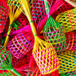 Small colorful baskets — Stock Photo