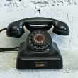 Telephone with rotary dial — Foto Stock