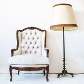 Beyaz koltuk — Stok fotoğraf