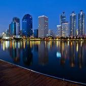 Bangkok nacht viwe — Stockfoto