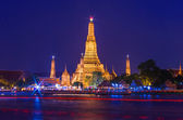 Twilight view of Wat Arun — Stock Photo