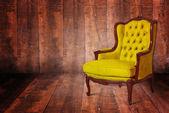 黄色の肘掛け椅子 — ストック写真