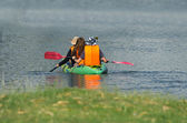 Kayak on the lake. — Stock Photo