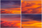 Collections sunset sky — Stock Photo
