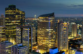 Twilight view of Bangkok. — Stock Photo