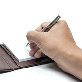 Notebook and Pen. — Stockfoto