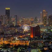 Visão noturna de bangkok — Foto Stock