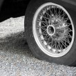 Old wheel tire — Stock Photo