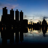 Bangkok-nachtsicht — Stockfoto