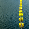 Yellow buoys — Stock Photo