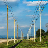 High voltage towers — Stock Photo