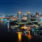 Bangkok night view — Stockfoto