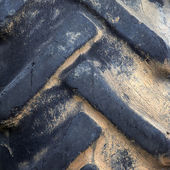 Old tractor tyre — Stock Photo