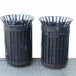Stock Photo: Black bins