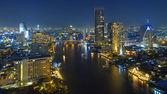 Bangkok gece görünümü — Stok fotoğraf