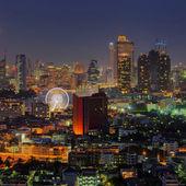 Bangkok noční pohled — Stock fotografie