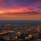 Bangkok noční pohled — 图库照片