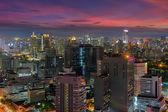 Bangkok nacht weergave — Stockfoto