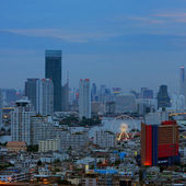 Vista notturna di bangkok — Foto Stock