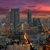 Twilight view of Bangkok. — Stock Photo