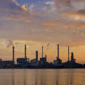 Oil refinery factory  — Stock Photo