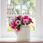 Bouquet of artificial flowers — Stock Photo